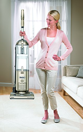 Shark Navigator Deluxe Upright Corded Bagless Vacuum for Carpet and Hard Floor with Anti-Allergy Seal (NV42), Champagne