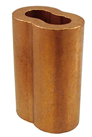 """Loos Cableware SL2-1 50 Piece Plain Copper Duplex Oval Crimping Sleeve Set for 1/32"""" Diameter Wire Rope"""