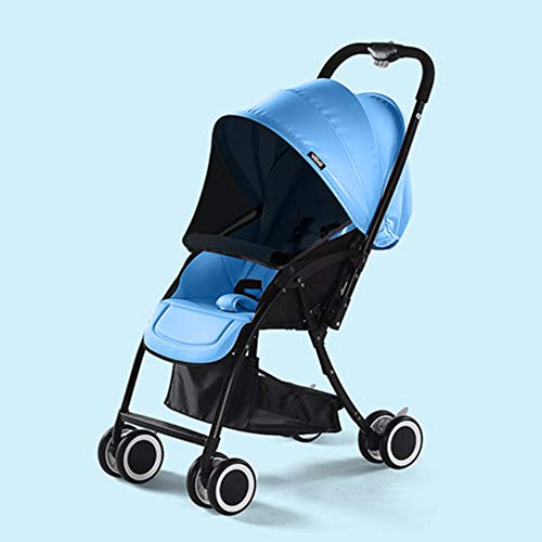 HRD Reversible Baby Stroller, sit/Lie Shockproof Pushchair, one-Handed Folding, Baby Buggy, Compact, Space Saving