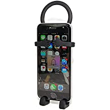 Bondi Unique Flexible Cell Phone Holder Made of Silicon - Retail Packaging - Black