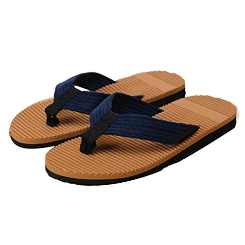 Voberry New 2015 Fashion Men Flip-flops Slippers Beach Sandals Summer Home Slippers (New Slipper Sandal Flip Flop)