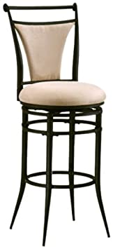 Hillsdale Cierra 26-Inch Swivel Counter Stool, Black finish with Fawn Faux-Suede Fabric