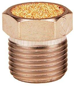 Bronze Exhaust Muffler,Pneumatic Muffler Sintered Bronze Exhaust Muffler 1//8 NPT Brass Body Pack of 10