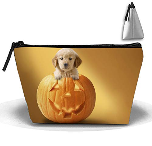 Travel Makeup Pouch Halloween Puppy Cosmetics and Toiletries Organizer Bag ()