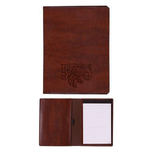 Fayetteville Fabrizio Junior Brown Padfolio 'Official Logo Engraved' by CollegeFanGear
