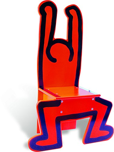 Vilac Keith Haring Wooden Chair, Red by Vilac