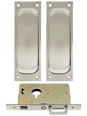 Pocket Door Mortise Lock (Pocket Door Mortise Lock- DUMMY- SATIN)