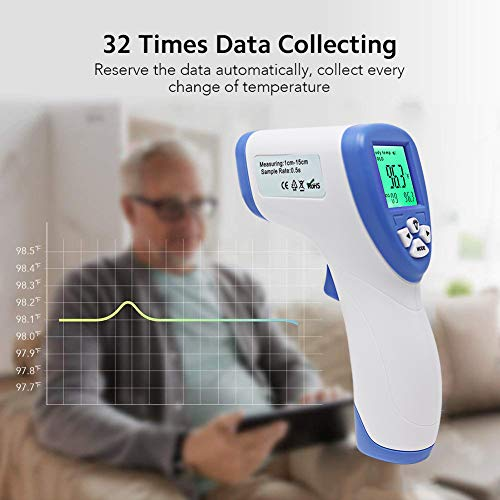3 i... CocoBear Thermometer Baby Forehead Thermometer with Fever Alert Function