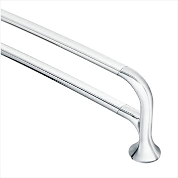 moen yb9222bn fina 24inch double towel bar brushed nickel amazoncom - Double Towel Bar