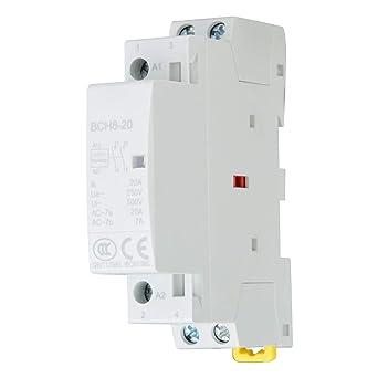 Montage sur Rail DIN 2NO 24V 50 // 60HZ Contacteur /à CA 2P 16A