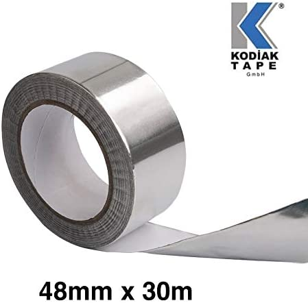 0,265 EUR//m 1 Rollen Aluminiumband Aluminium Aluband Klebeband Aluminiumklebeb/änder selbstklebend Dichtband isolierband 48mm x 30m