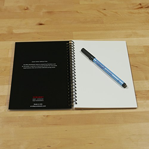 Scrubby Reusable Whiteboard Notebook--Junior Size (5.5