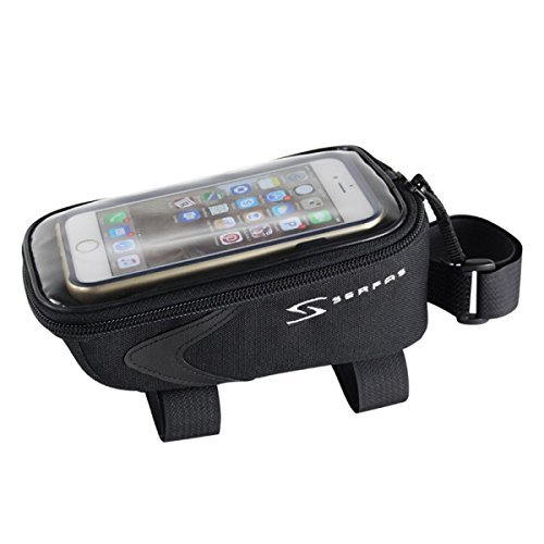 Serfas Cell Phone Bicycle Top Tube Bag (Black)