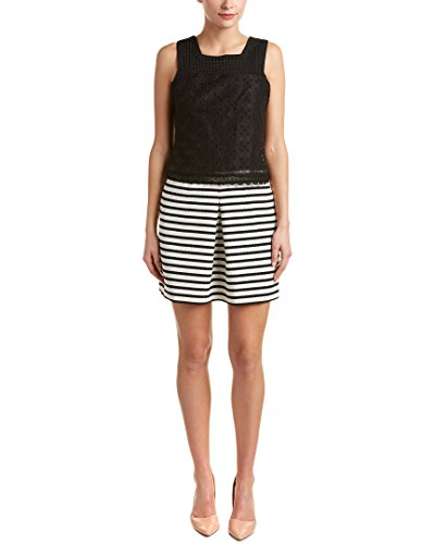 Karen Millen Womens Lace Bodice A-Line Dress, US 8/UK 12, - Karen Uk Millen