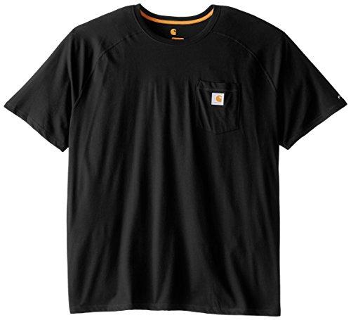 Carhartt Men's Force Cotton Delmont Short Sleeve T-Shirt (Regular and Big & Tall Sizes), Black, 4X-Large