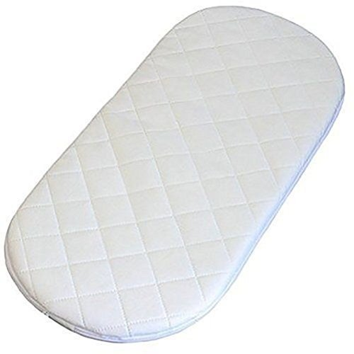 Moses Basket Foam Mattress Bassinet Baby PRAM Oval Fully Breathable Quilted Size 70 X 28 X 3.5 cm