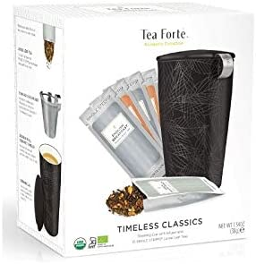 Tea Forté Kati Mug Black Starter Kit   Pack Taza con Infusor + 10 ...