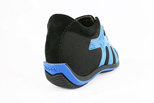 HOGAN sneakers donna nero blu pelle tessuto AH676