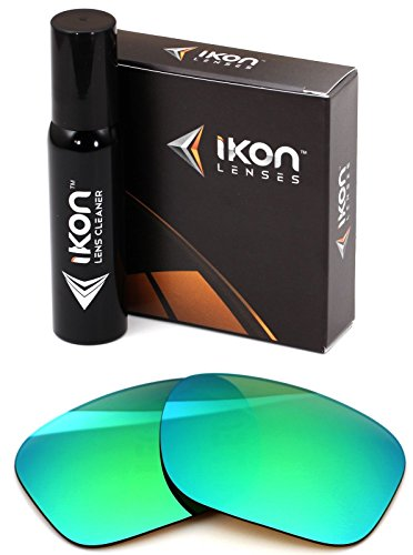 Polarized Ikon Iridium Replacement Lenses for Oakley Holbrook Sunglasses - Emerald - Iridium Lenses Emerald