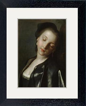 SLEEPING YOUNG WOMAN GIRL PORTRAIT ITALIAN ROTARI PAINTING ART REAL CANVAS PRINT
