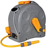 Hozelock Compact Enclosed Reel with 25 m Hose and Connectors - Colour May Vary