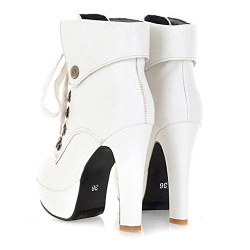 Three's Blanc Femme Bottes Bottes Three's pour dxHFxqXp