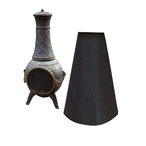 - QEES Chiminea Cover Chiminea Protection, Outdoor Chimney Fire Pit Heater Cover, Black Waterproof Polyester JJZ18