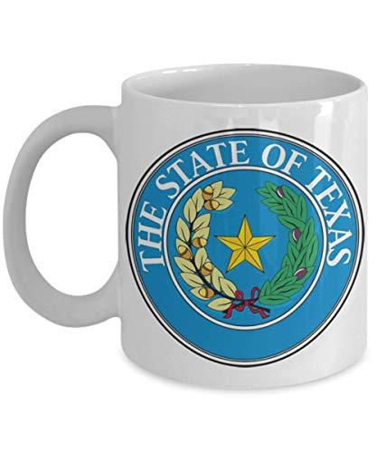 - State of Texas Seal Lone Star 11 or 15 oz Coffee Mug Tea Cup Texan wannabe