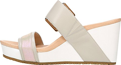 High Collection Leather Sandal Frill Scholl's Dr Wedge Greige Original Slide Women's 4qnZSwUC