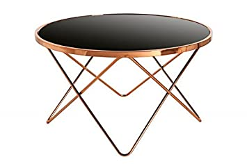 Dunord Design Couchtisch Beistelltisch Paris 85cm Art Deco Design
