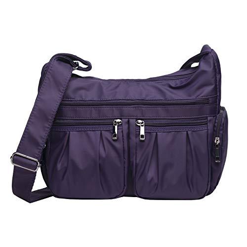 - Crossbody Bags for Women Multi Pocket Shoulder Bag Waterproof Nylon Travel Purses and Handbags Lightweight Work Bag