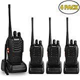 Greaval Walkie Talkies 4 Pack Long Range 2 Way Radio Handheld 16-CH Two Way Radios (Pack of 4)