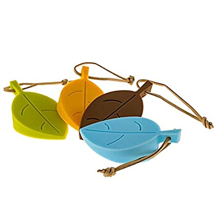 Kitchen//home tools 2 PCS Creative Leaf Silicone Door Stop Child Anti-pinch Security Door Crash Pad ,Rubber Colorful Door Stoppers Color : Coffee Green