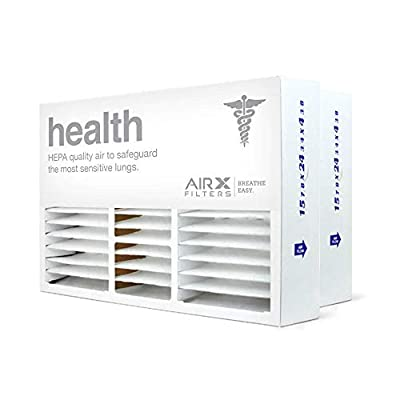 AIRx Filters Health 16x25x5 Air Filter MERV 13 Replacement for Honeywell FC100A1029 CF200A1008 CF200D1625 to Fit Media Air Cleaner Cabinet F25F1000 F35F1008 F50E1018 F50F1073, 2-Pack