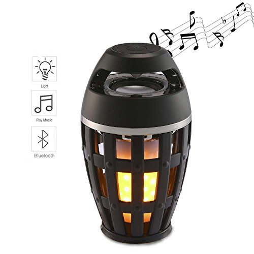 Ouomm Led Light Speaker,Wireless Bluetooth Speaker with USB Charging,Table Lamp Speaker with HD Audio and Enhanced Bass,Flicker Warm Yellow Lights Atmosphere Speaker