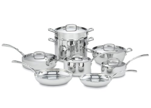 (Cuisinart FCT-13 French Classic Tri-Ply Stainless 13-Piece Cookware Set)