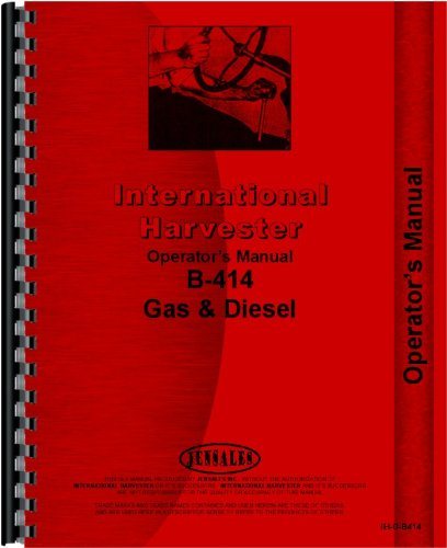 International Harvester B-414 Tractor Operators Manual for sale  Delivered anywhere in USA