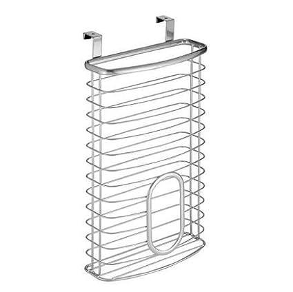 uctop Store cromado dispensador de soporte de almacenamiento bolsa de transporte bolsas de reciclaje de plástico