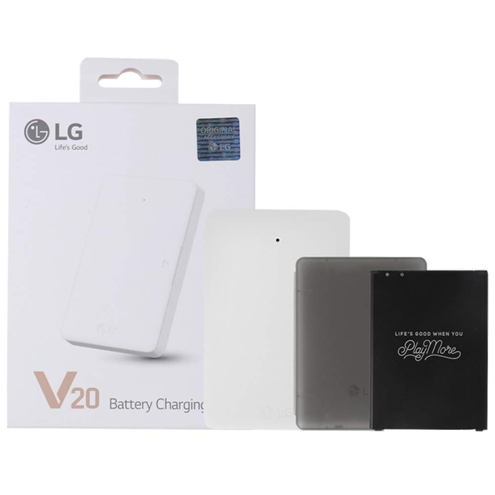 Genuine OEM Original LG Battery Charging Charger Combo Kit BCK-5200 (Battery + Battery Case + Charging Cradle) for LG V20 Phone