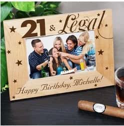 21st Birthday Gift Frame - 21 and Legal