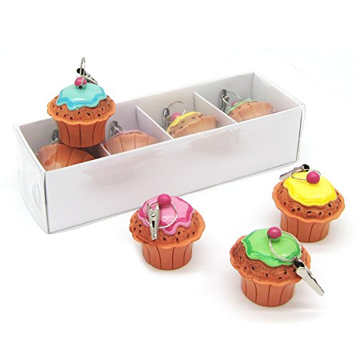 (Cup Cake Tablecloth Weights Cute Table Clip Clamps Table Cover Weights for Outdoor Garden Party Picnic, Set of 4)