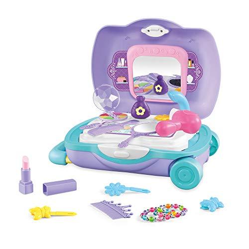 RTYou 20 Pcs Pretend Play Cosmetic Make Up Vanity Kit Set Washable Kids Makeup Set 【Ship from USA 】
