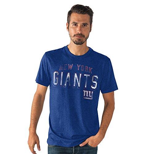 NFL Men's Distressed Logo Tri-Blend T-shirt (XXL, New York Giants) (Girls New York Giants Shirt compare prices)