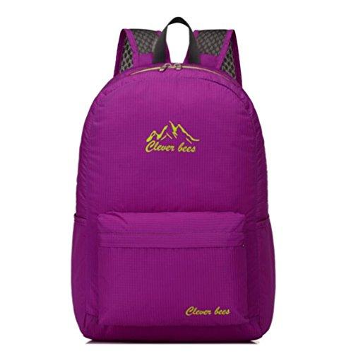 Wmshpeds Mochila plegable ultra-ligero deportes al aire libre bolsa de luz bolsa de hombro bolsa de piel bolsa plegable D