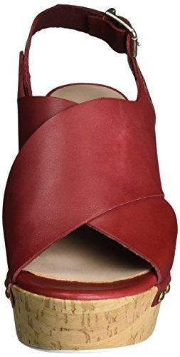 Manas versilia 121L5906VED - Sandalias de vestir de cuero para mujer Rojo (Rosso)