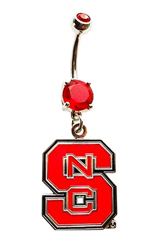 (NCSU NC NORTH CAROLINA STATE UNIVERSITY WOLFPACK Navel Belly Button Ring Body Jewelry Piercing)