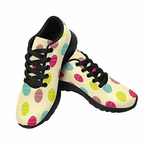 Interesprint Mujeres Trail Running Zapatos Jogging Ligero Deportes Walking Athletic Sneakers Patrón, Polka Dot Multi 1