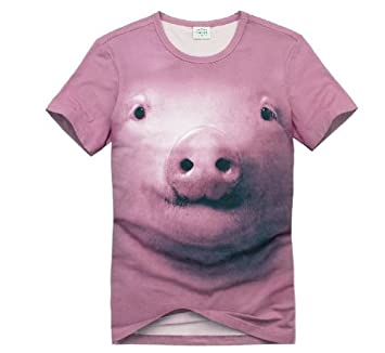 f330376f5c1a Pink Cute Pig 3dt Shirt the Summer Creative Personality Short Sleeve T-shirt  Men Animal