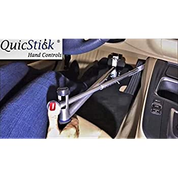 Image of First Aid Kits QuicStick Portable Hand Controls Left or Right Hand Drivers Disabled Driving For Temporary Or Permanent Disability Lightweight Handicap Car Mobility truck