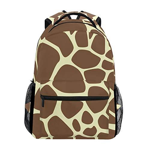 Brighter Animal Giraffe Print Backpack Students Shoulder Bags Travel Bag College School Backpacks